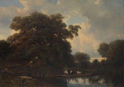 Les chasseurs   Jules DuprE   Oil Painting