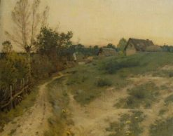 Landscape with Houses | Jean Charles Cazin | Oil Painting