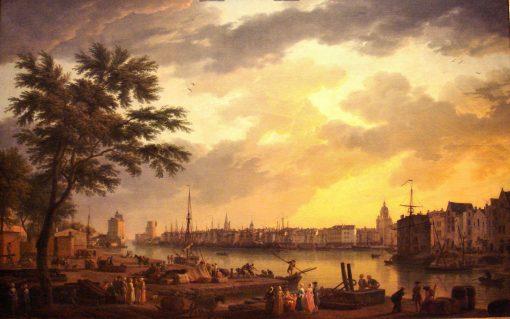 La Rochelle Harbour   Claude Joseph Vernet   Oil Painting