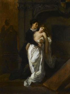 Romeo et Juliette au tombeau des Capulet (Romeo and Juliet at the Capulet's Tomb) | Eugene Delacroix | Oil Painting