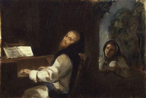 Charles-Quint au monastere de Yuste | Eugene Delacroix | Oil Painting