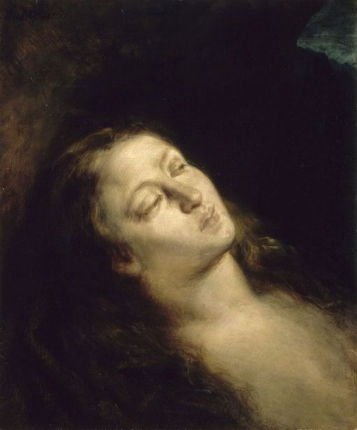 Madeleine dans le désert   Eugene Delacroix   Oil Painting