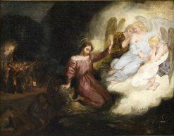 Esquisse pour Le Christ au Jardin des Oliviers (Sketch for Christ in the Garden of Olives)   Eugene Delacroix   Oil Painting