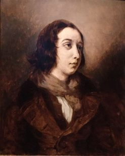 Portrait of George Sand | Eugene Delacroix | Oil Painting