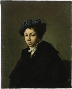Portrait of a Young Man Wearing a Blue Beret   Eugene Delacroix   Oil Painting