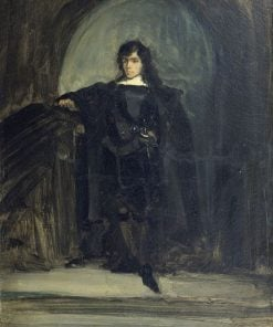Autoportrait dit en Ravenswood ou en Hamlet(also known as Self Portrait as Ravenswood from Hamlet) | Eugene Delacroix | Oil Painting