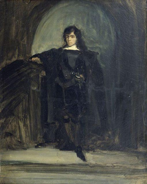 Autoportrait dit en Ravenswood ou en Hamlet(also known as Self Portrait as Ravenswood from Hamlet)   Eugene Delacroix   Oil Painting