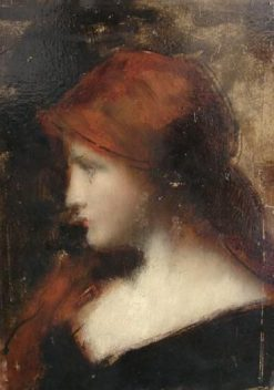 Girl in Profile | Jean Jacques Henner | Oil Painting