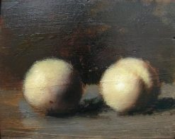 Still-Life with Two Peaches | Jean Jacques Henner | Oil Painting