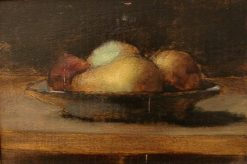 Still-Life with Pears and Apples on a Plate | Jean Jacques Henner | Oil Painting