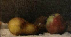 Still-Life with Pears and Apples on a White Cloth | Jean Jacques Henner | Oil Painting