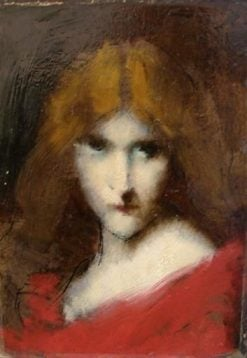 Head of a Woman: Study | Jean Jacques Henner | Oil Painting