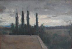 Vue de la ferme   Jean Jacques Henner   Oil Painting
