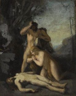 Adam and Eve Discover the Body of Abel | Jean Jacques Henner | Oil Painting