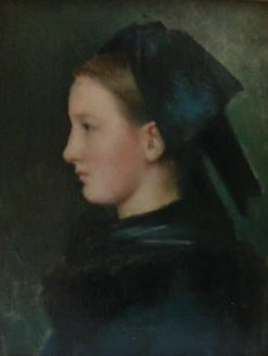 An Alsatian | Jean Jacques Henner | Oil Painting