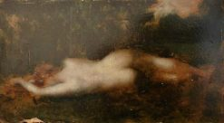 The Source of Byblis   Jean Jacques Henner   Oil Painting