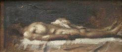 Christ mort (The Dead Christ) | Jean Jacques Henner | Oil Painting