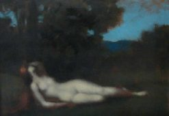 Sleeping | Jean Jacques Henner | Oil Painting