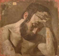 Study of a Man with Head in his Hands | Jean Jacques Henner | Oil Painting