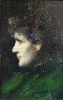 Eugénie-Marie Gadiffet-Caillard | Jean Jacques Henner | Oil Painting