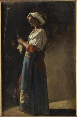Woman Standing   Jean Jacques Henner   Oil Painting