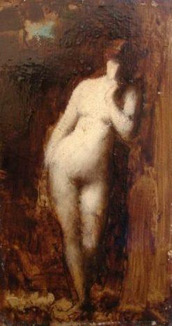 Femme tenant une lyre | Jean Jacques Henner | Oil Painting