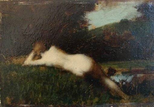 A Figure Lying | Jean Jacques Henner | Oil Painting