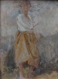 Fillette de Capri (Young Girl from Capri) | Jean Jacques Henner | Oil Painting
