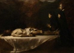 Christ and Donors | Jean Jacques Henner | Oil Painting