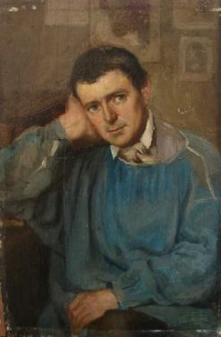 Séraphin Henner in Blue Shirt | Jean Jacques Henner | Oil Painting