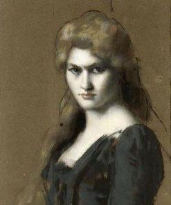 Théresa Bianchi   Jean Jacques Henner   Oil Painting