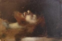 Head of Christ in the Tomb | Jean Jacques Henner | Oil Painting