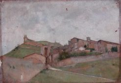 View of Assisi   Jean Jacques Henner   Oil Painting