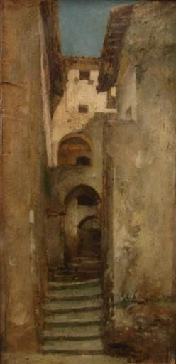 Alleyway in Subiaco | Jean Jacques Henner | Oil Painting