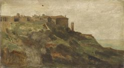 View of Tivoli   Jean Jacques Henner   Oil Painting