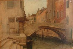 View of Venice   Jean Jacques Henner   Oil Painting