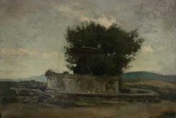 A Fountain on the Outskirts of Rome | Jean Jacques Henner | Oil Painting