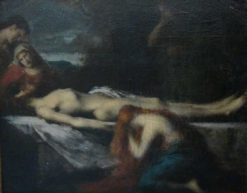 The Dead Christ and Female Saints   Jean Jacques Henner   Oil Painting
