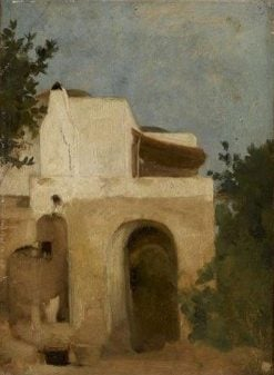 Houses in Capri | Jean Jacques Henner | Oil Painting
