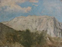 View of Mount Solario at Capri   Jean Jacques Henner   Oil Painting