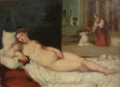 Venus of Urbino (after Titian)   Jean Jacques Henner   Oil Painting