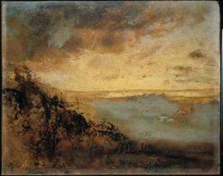 Crépuscule d'or sur les dunes en fôret de Soignes (Golden Sand over Zonienwoud) | Auguste Rodin | Oil Painting