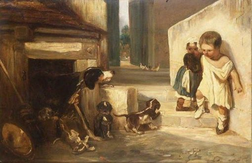 Child Frightened by a Dog | Alexandre Gabriel Decamps | Oil Painting