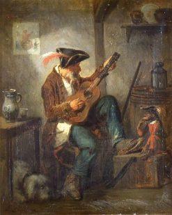 Le guitariste | Francois Bonvin | Oil Painting