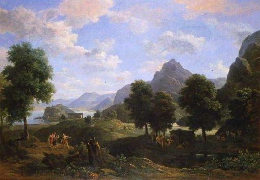 Vue du Mont Pieria et de la ville de Dion (View of Mount Pieria) | Jean Victor Bertin | Oil Painting