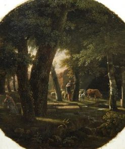 Landscape with a Shepherd | Jean Victor Bertin | Oil Painting