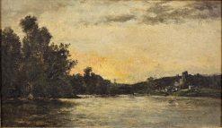 Chateau-Gaillard | Karl Pierre Daubigny | Oil Painting