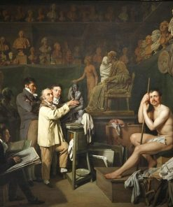 The Studio of Sculptor Houdon | Louis LEopold Boilly | Oil Painting