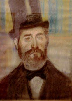 Man in Opera Hat | Edgar Degas | Oil Painting