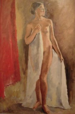 Standing Nude Female | Maurice Asselin | Oil Painting